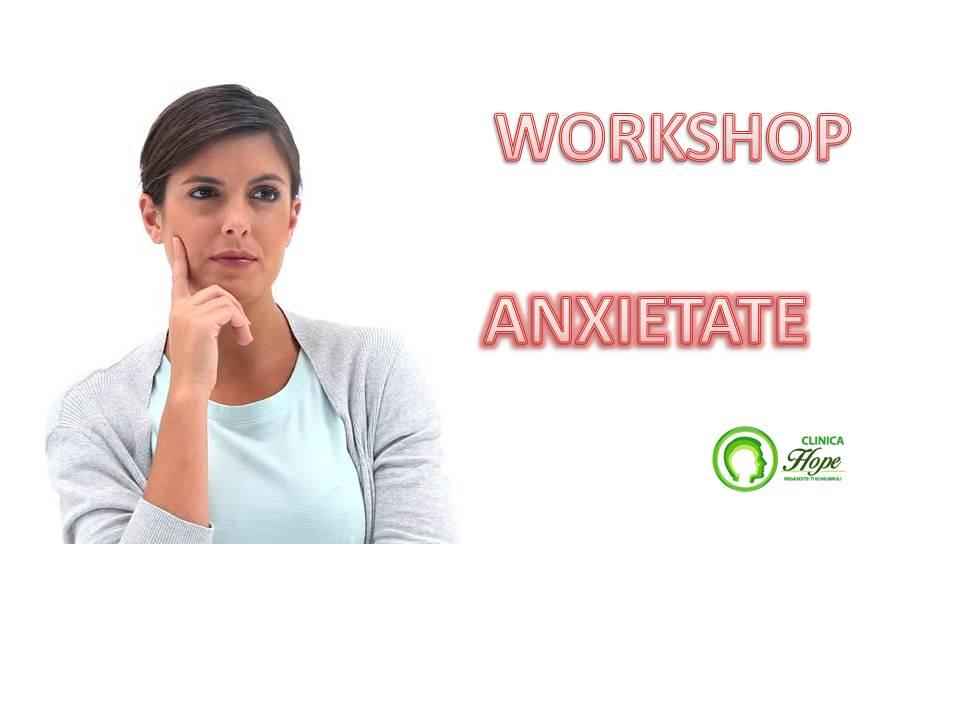 formular de inscriere - workshop anxietate
